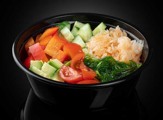 Поке с овощами