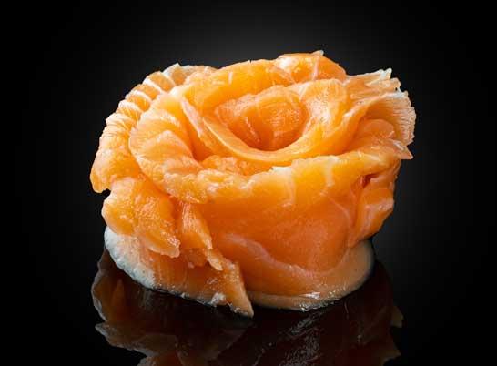 Сашими с лососем