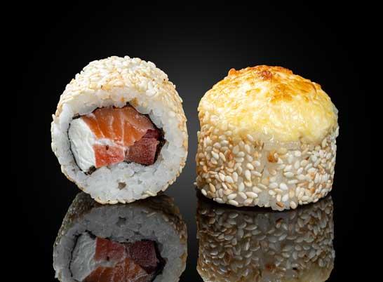 Запеченные с лососем